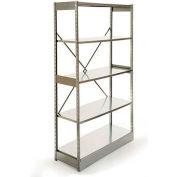 "Excalibur Stockroom Shelving, AM5244872, 48""W X 24""D X 72""H, Galvanized/Galvanized, 5-Shelf-Add On"