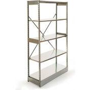 "Excalibur Stockroom Shelving, AM6123684, 36""W X 12""D X 84""H, Galvanized/Galvanized, 6-Shelf-Add On"
