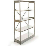 "Excalibur Stockroom Shelving, AM6153684, 36""W X 15""D X 84""H, Galvanized/Galvanized, 6-Shelf-Add On"