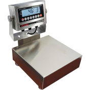 """Optima 915 Series NTEP Stainless Steel Bench Digital Scale w/ LED Display 100lb x 0.02lb 12"""" x 12"""""""
