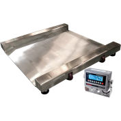 "Optima 917 Series Heavy Duty SS Washdown Drum Digital Scale 28"" x 28"" 2,000lb x 0.5lb"