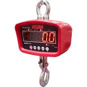 Optima LED Digital Crane Scale With Remote 3,000lb x 1lb