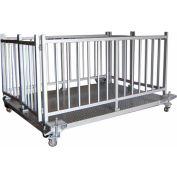 """Optima 930 Series 84"""" x 60"""" Caged Livestock Scale 10,000lb x 2lb"""