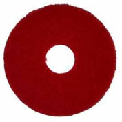"Bissell Commercial 17"" Polishing Pad, Red, 5 Pads"
