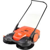 "Haaga® 38"" Deluxe Triple Brush Push Power Sweeper - HAAGA 497"
