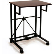 Origami RDP-01 Collapsible Laptop Trolley, Wood Top, Black