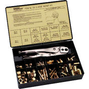 "Hose Repair Kits-Fittings; Crimping Tool; Full Color Label/Description Chart - 3/16""; 1/4"" Hose I.D."