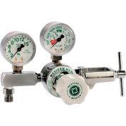 M1 Series Flow Gauge Regulator - Oxygen - 2-15 LPM - CGA-870 Yoke - 3000 PSI Inlet