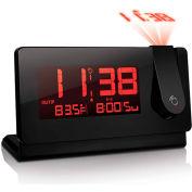 Oregon Scientific Slim Black Line Projection Clock, with Temperature