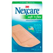 "3M Knee/Elbow Bandages, Adhesive, Breathable, Latex-free, 4""L x 1.88""W, 8 PK, Tan"