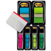 """Post-it® Flags and Arrow Flags Value Pack, 1"""" and 1/2"""" Wide, Assorted Bright, 196 Flags/Pack"""