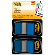 "Post-it® Flags, 1"" Wide, Blue, 50 Flags/Dispenser, 2 Dispensers/Pack"