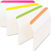 "Post-it® Durable Hanging File Folder Tabs, 2"" Angled Lined, Bright Colors, 24 Tabs/Pack"