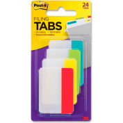 "Post-it® Durable Tabs, 2"" Solid, Primary Colors, 24 Tabs/Pack"