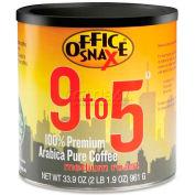 9-To-5 Pure Arabica Coffee, Regular, Pure Arabica, Medium Roast, 33.9 oz.