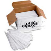 "Office Snax OFXSTR5 - Stirrers, 5""L, Plastic, 1,000/Box, White"