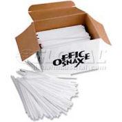 "Office Snax OFXSTR5 - Stirrers, 5""L, Plastic, 1,000/Box, White"