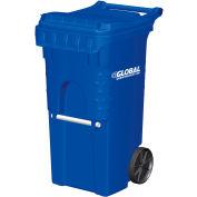 Otto Mobile Trash Container, 35 Gallon Blue - 3954444F-BS8