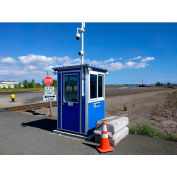 Guardian Booth; 4'x4' Guard Booth, Blue - Deluxe Model, Pre-Assembled