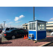 Guardian Booth; 4'x6' Guard Booth, Blue - Deluxe Model, Pre-Assembled