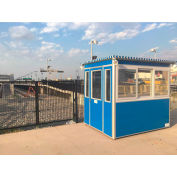 Guardian Booth; 6'x6' Guard Booth, Blue - Deluxe Model, Pre-Assembled