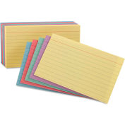 """Oxford® Rule Index Cards 34610, 4"""" x 6"""", Assorted, 100/Pack"""