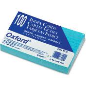 "Oxford® Rule Index Cards 7321BLU, 3"" x 5"", Blue, 100/Pack"
