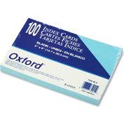 "Oxford® UnRule Index Cards 7520BLU, 5"" x 8"", Blue, 100/Pack"