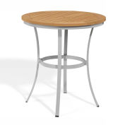 "Oxford Garden® Travira 36"" Cafe Bar Table, Tekwood Natural"