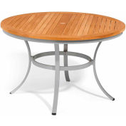 "Oxford Garden® Travira 48"" Round Dining Table, Teak"