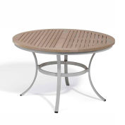 "Oxford Garden® Travira 48"" Round Dining Table, Tekwood Vintage"