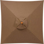 Oxford Garden® Sunbrella® Outdoor Rectangular Umbrella - 6' x 10' - Dupione Walnut