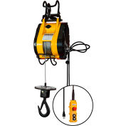 OZ Lifting 1/4 Ton Electric Wire Rope Hoist, 90' Lift, 75 FPM, 115V