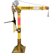 OZ Lifting OZ1200DAV Light Portable COMPOZITE Davit Crane, 1200 Lb. Capacity