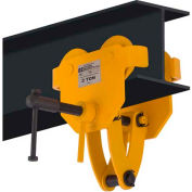 OZ Lifting OZ2BTC Beam Trolley with Clamp 2 Ton Capacity