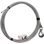 "OZ Lifting 3/16"" Stainless Steel Cable Assembly for COMPOZITE Davit Crane"