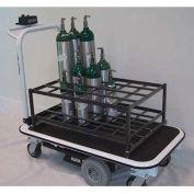 Electro Kinetic Technologies Motorized Medical Cylinder Cart MGC-1772-L40 - 40 Cylinders