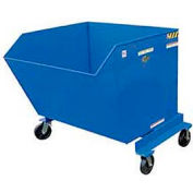 Steel Portable Tilt Refuse Hopper P-HOP-1.5 1-1/2 Cu. Yd. Capacity