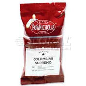 PapaNicholas Columbian Supremo Coffee, Regular, Arabica Bean, 2.5 oz., 18/Carton