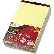 Gold Fibre® 16# Watermarked Canary Narrow Rule 50-Sheet Pads, 8-1/2 x 14, Dozen