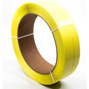 """Global Industrial™ 16"""" x 6"""" Core Mach. Grade Strapping, 7200'L x 1/2""""W x 0.030"""" Thick, Yellow"""
