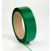 """Global Industrial™ 16"""" x 6"""" Core Polyester Strapping, 4000'L x 5/8""""W x 0.035"""" Thick, Green"""