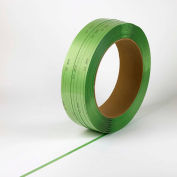 "Lubricated Polyester Strapping 5/8"" x .040"" x 4,000' Green 16"" x 6"" Core AAR Approved - Pkg Qty 28"