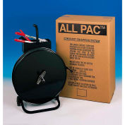 """Pac Strapping PP Kit w/ Tensioner/Sealer/Seals & Cart, 3600'L x 1/2"""" Strap Width Coil, Black"""
