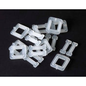 """Pac Strapping Polypropylene Strapping Plastic Buckles, 1-1/2"""" Max Strap Width, White, Pack of 1000"""