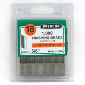 "18 Gauge Straight Finish Brad Nail - 1-1/4"" Length - 304 Stainless Steel - Pkg of 10000 - USA"