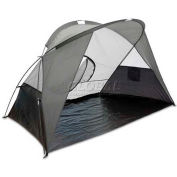 "Picnic Time Cove Sun Shelter 112-00-105-000-0, 94.5""W X 47.2""D X 47.2""H, Gray/Silver/Black"