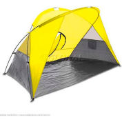 "Picnic Time Cove Sun Shelter 112-00-181-000-0, 94.5""W X 47.2""D X 47.2""H, Yellow/Gray/Silver"