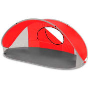 "Picnic Time Manta Sun Shelter 113-00-100-000-0, 86.6""W X 47.2""D X 39.4""H, Red/Gray/Silver"