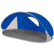 "Picnic Time Manta Sun Shelter 113-00-139-000-0, 86.6""W X 47.2""D X 39.4""H, Blue/Gray/Silver"
